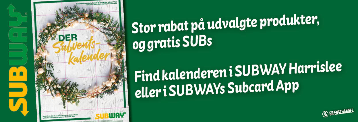 find kalenderen i subway Harrislee